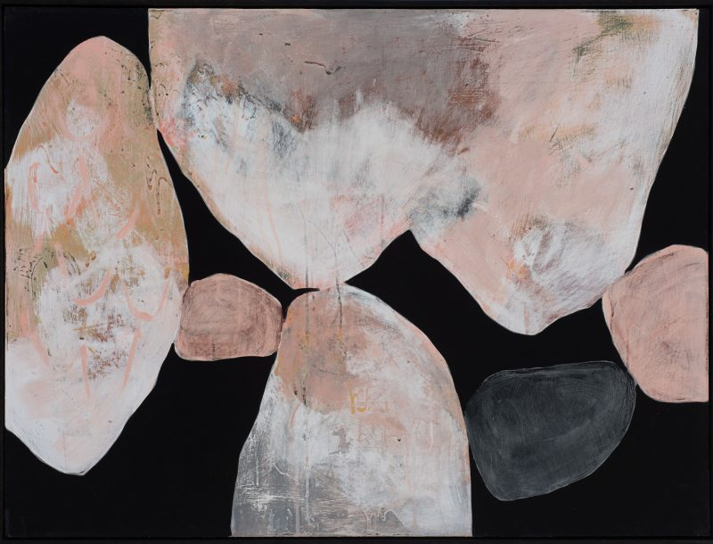 Ngaio Lenz, #117, 2017, mixed media on canvas, 91x122cm