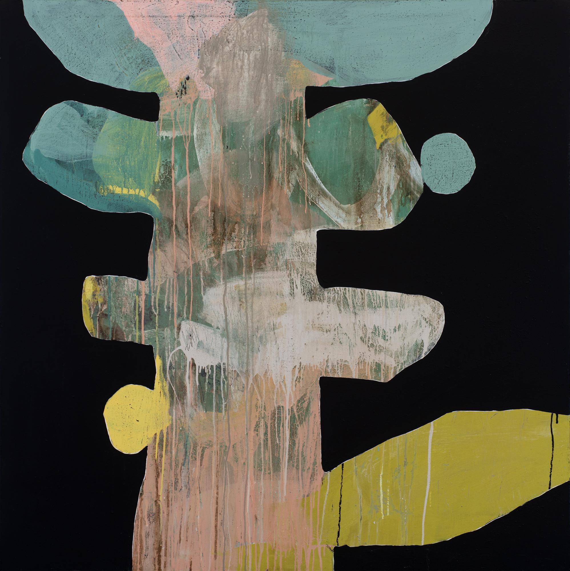 Ngaio Lenz, #43, 2015, 122x122cm