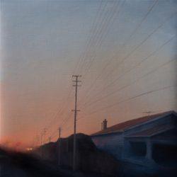 Kirrily Hammond, Albion St, Brunswick East, 2017, Oil On Linen, 31x31cm