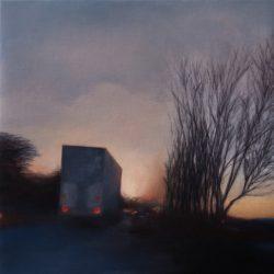 Kirrily Hammond, Armadale, Victoria 2017, Oil On Linen, 31x31cm