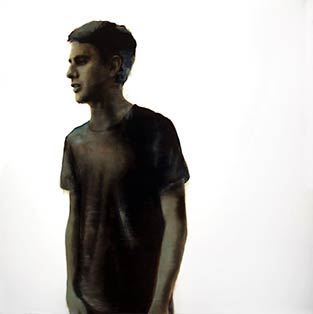 Rachel Coad, Mark, Oil On Linen, 185x185cm