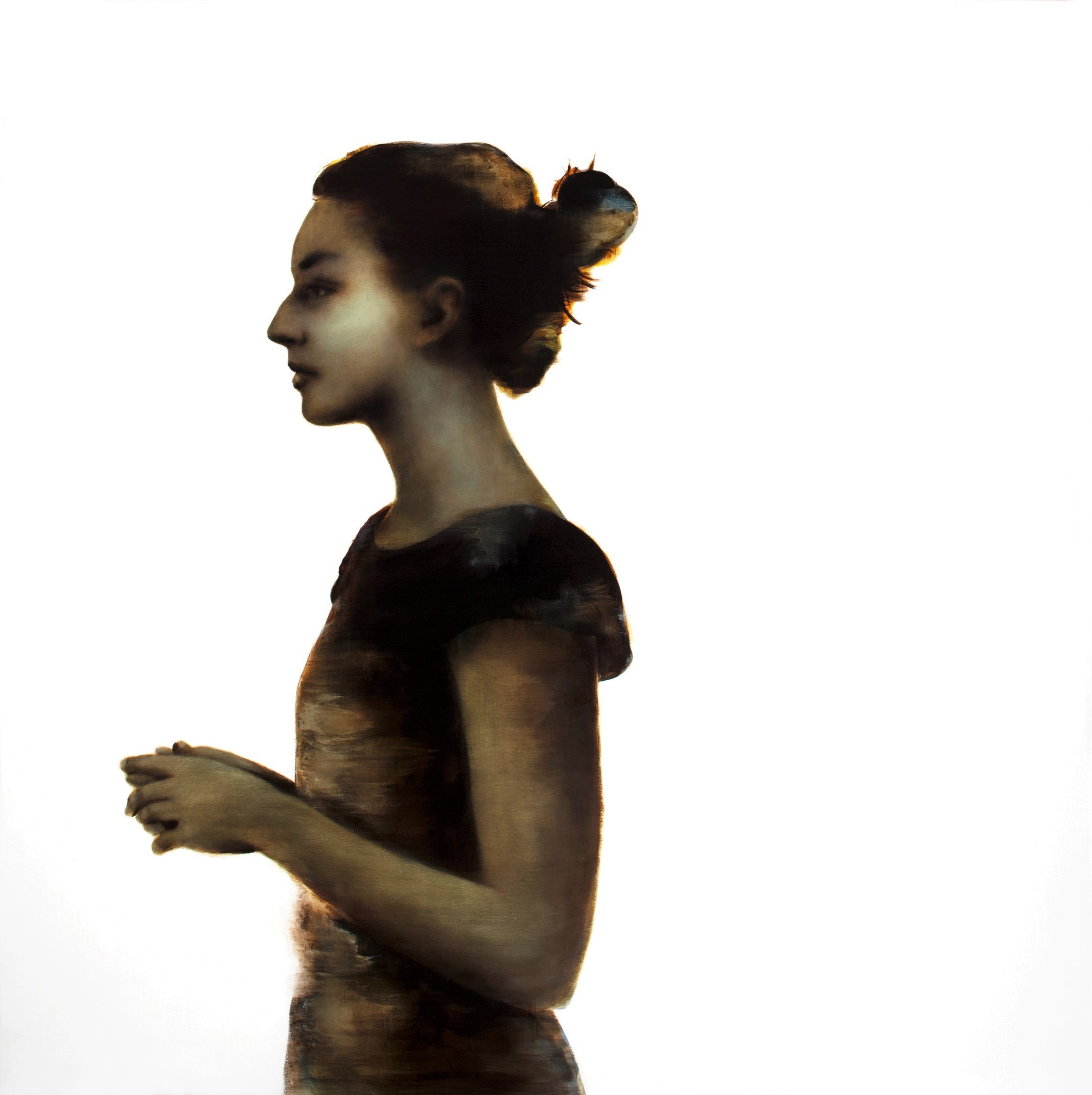 Rachel Coad, Megan II, oil on linen, 165x165cm