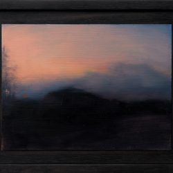 Kirrily Hammond, Roadside Landscape, Oil On Copper, 9x12cm (image); 15.3x12.3x3.7cm (frame)