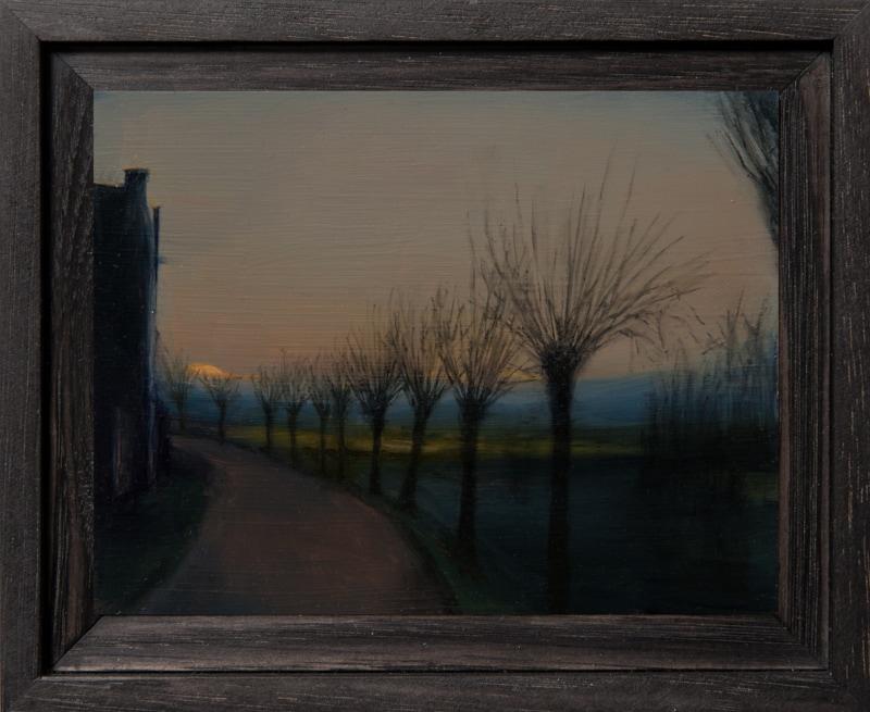 Kirrily Hammond, Rotselaar Rd, oil on copper, 9x12cm
