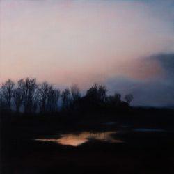 Kirrily Hammond, Rotselaar Pond 2017, Oil On Linen, 46x46cm