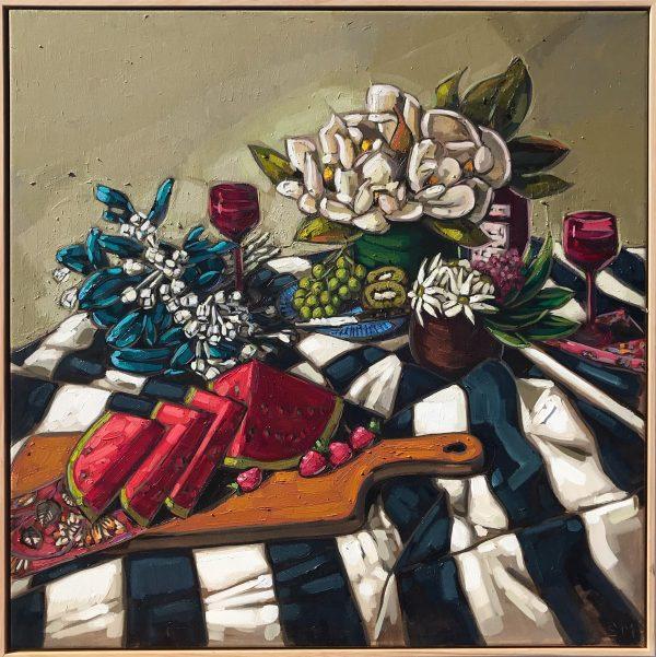 Sam Michelle, Spring Picnic Blanket, 82x82cm