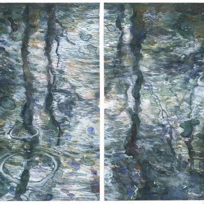 Sue Lovegrove, No. 15, 2018, Acrylic And Gouache On Paper, 12x8cm