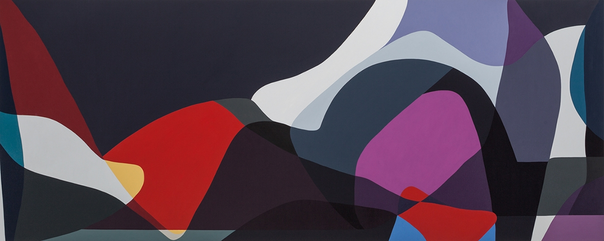Jennifer Goodman, Sweep, 2014, oil on linen, 100x250cm