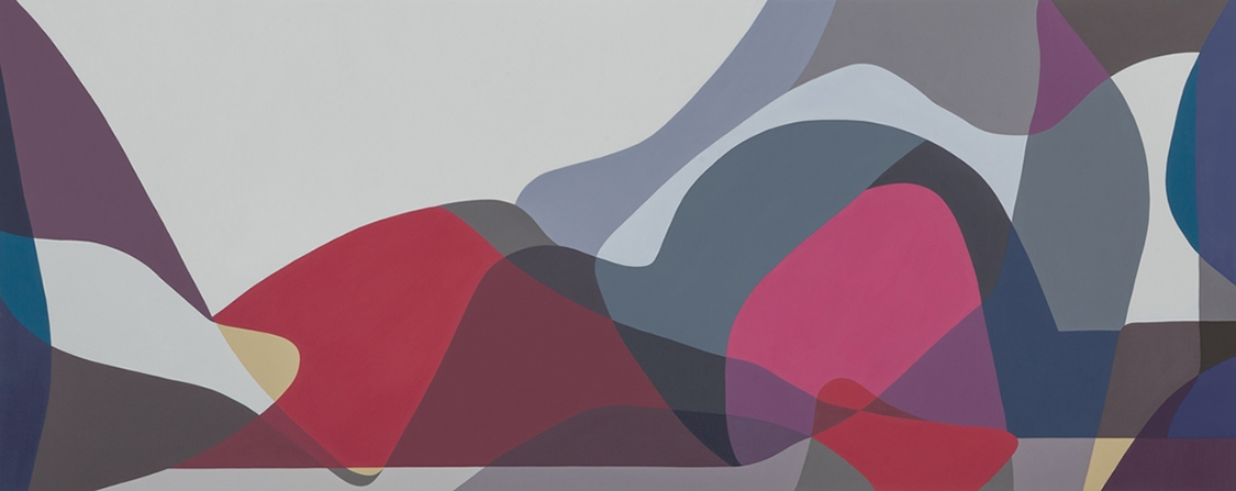 Jennifer Goodman, Sweep 3, 2014, oil on linen, 100x250cm