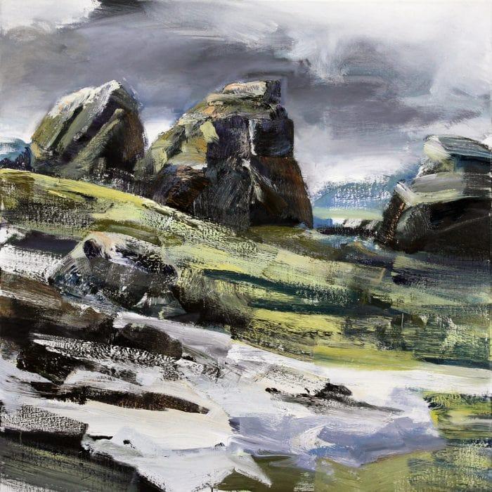 Tim Allen, Bluster (Bogong High Plains) 112x112cm