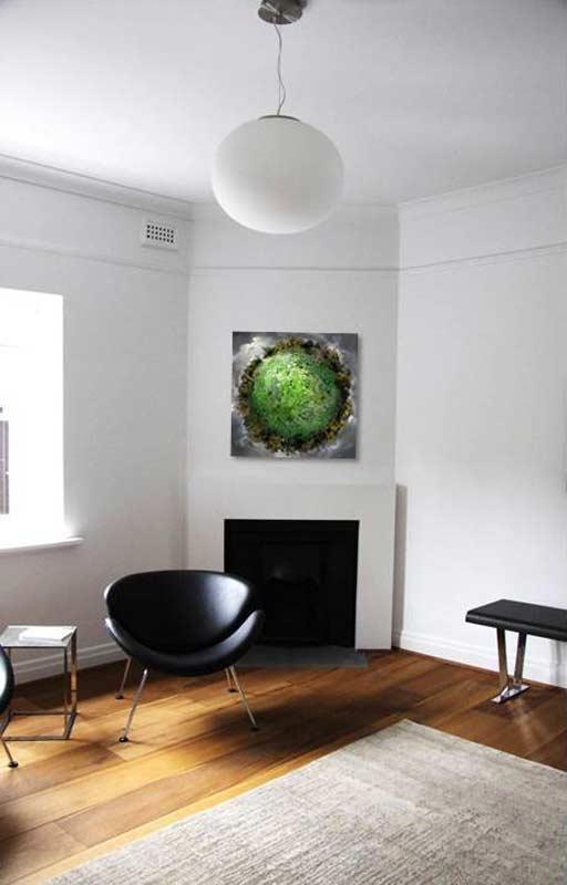 Catherine Nelson, Danube Storm, Glen Iris residence. Pamela Rice Interior Design.