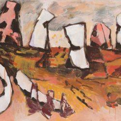 Charmaine Pike, Burning Mountain, Acrylic On Board, 90x122cm