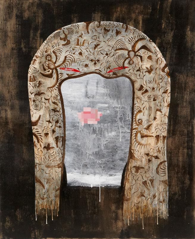 Dadang Christanto, Batik Veil II, 2010, oil on linen, 136x90cm