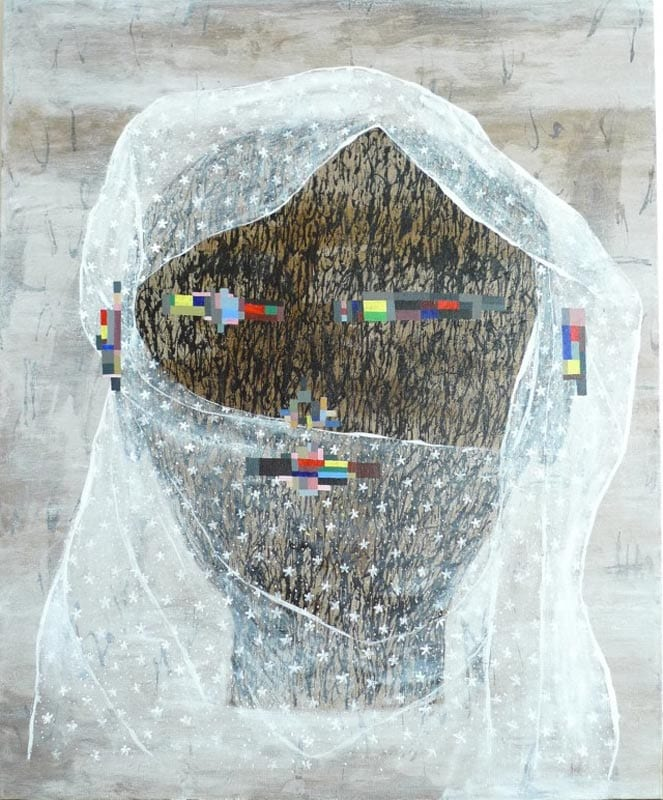 Dadang Christanto, I am a Rock, 2010, oil on linen, 136x110cm
