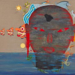 Dadang Christanto, In The Sky #2, 2013, Oil On Linen, 115x134cm