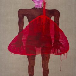 Dadang Christanto, This Blood Still Fresh, General? #3, 2015, Acrylic On Belgian Linen, 198x136cm