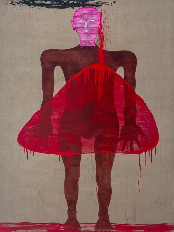Dadang Christanto, This Blood Still Fresh, General? #3, 2015, acrylic on Belgian linen, 198x136cm