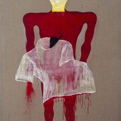 Dadang Christanto, This Blood Still Fresh, General? #2, 2015, Acrylic On Belgian Linen, 198x136cm