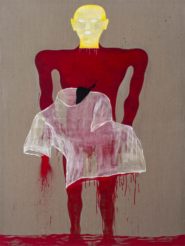 Dadang Christanto, This Blood Still Fresh, General? #2, 2015, acrylic on Belgian linen, 198x136cm