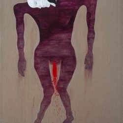 Dadang Christanto, This Blood Still Fresh, General? #1, 2015, Acrylic On Belgian Linen, 198x136cm