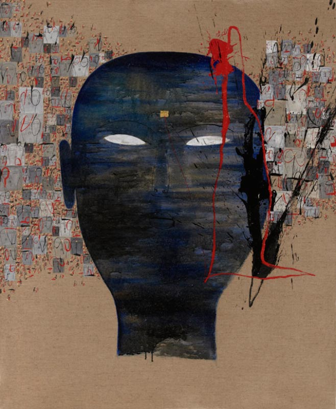 Dadang Christanto, Victim Imagining Victims, 2009, oil on linen, 136x90cm