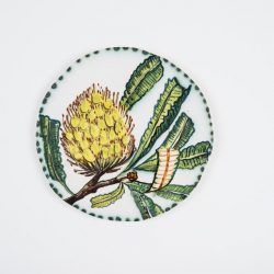 Fiona Hiscock, Hand-painted Earthenware Wall Disc, 23cm Diam