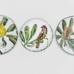 Fiona Hiscock, Hand-painted Earthenware Wall Discs