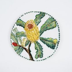 Fiona Hiscock, Hand-painted Earthenware Wall Disc, 28cm Diam
