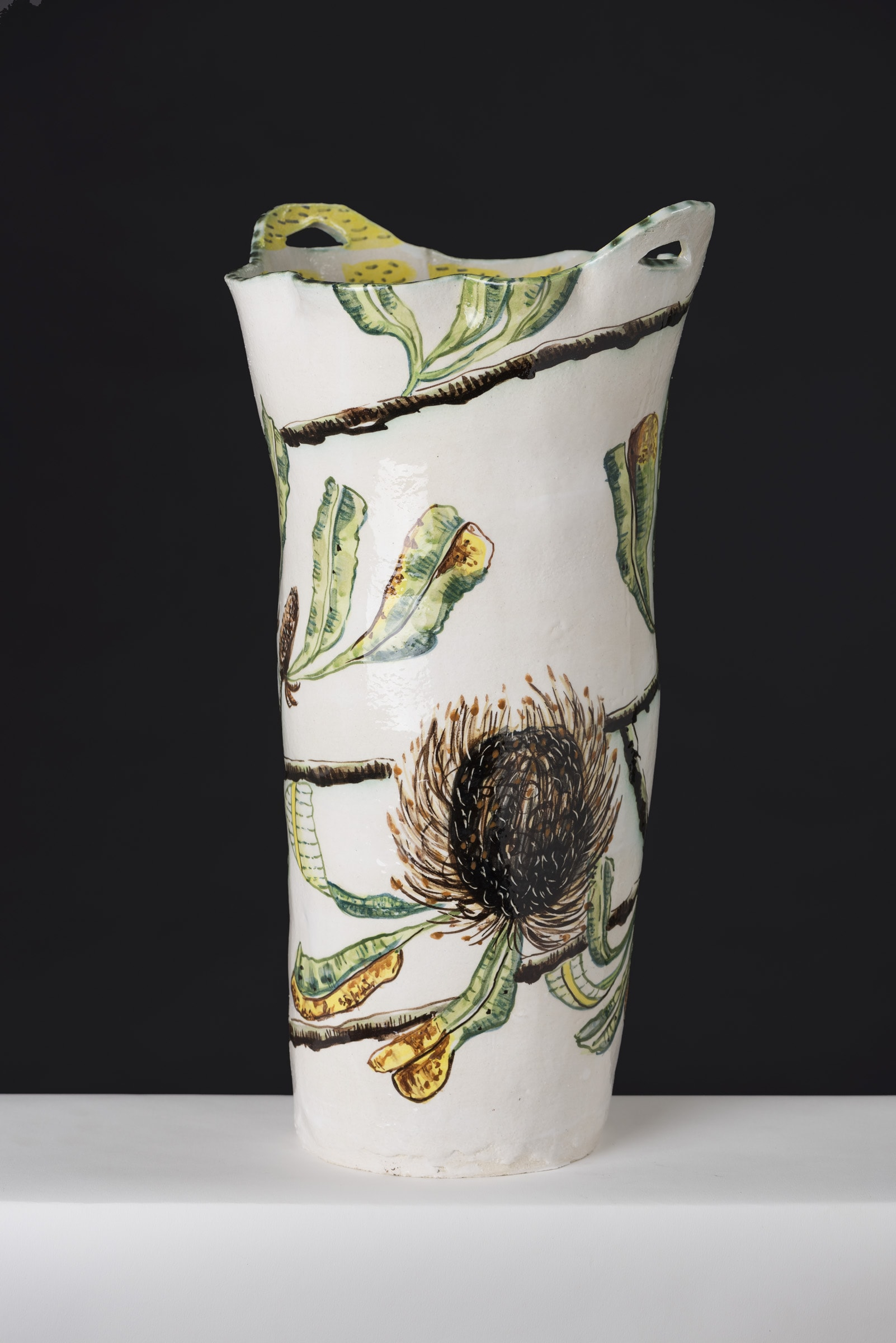 Fiona Hiscock Banksia And Bongong Moth Vase, 2017 View2