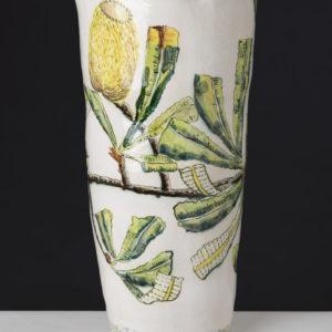 Fiona Hiscock, Banksia And Honeyeater Vase, 2017, Stoneware, 44cm High, View 2
