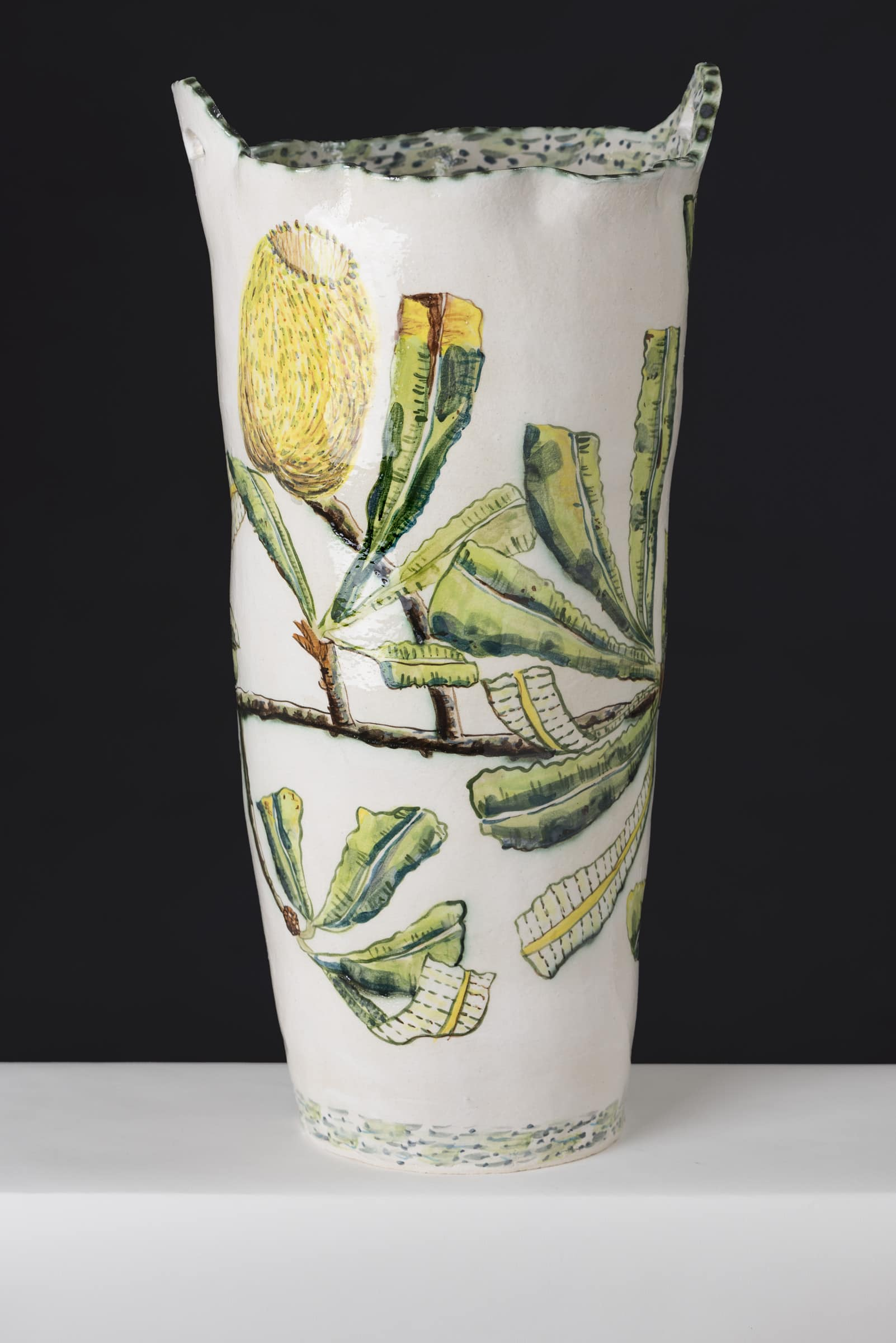Fiona Hiscock, Banksia And Honeyeater Vase, 2017, Stoneware, 44cm High, View 2