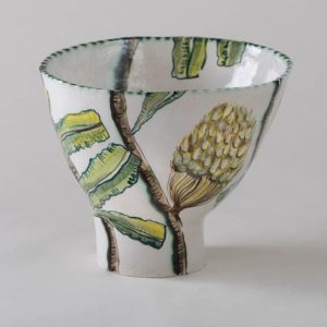 Fiona Hiscock, Banksia And Yellow Robin Bowl, 2017, Stoneware, 23cm High, View 2