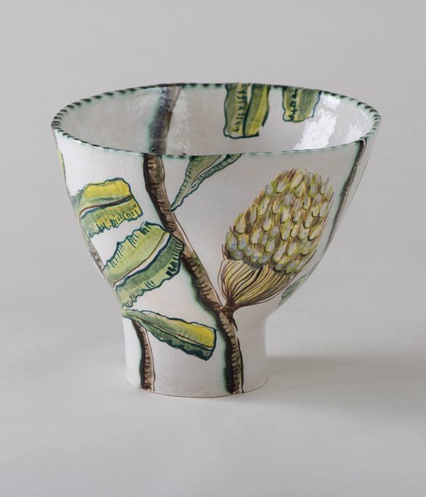 Fiona Hiscock Banksia And Yellow Robin Bowl View2