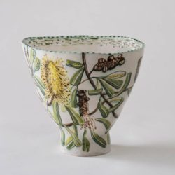 Fiona Hiscock, Banksia Bowl, 2017, Stoneware