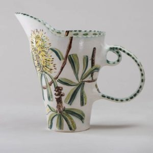 Banksia And Honeyeater Double-Handle Pitcher By Fiona Hiscock
