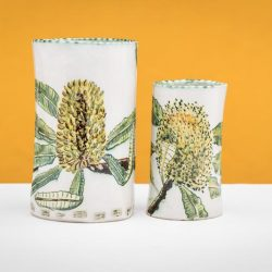 Fiona Hiscock, Banksia Jars, 14/18cm Tall