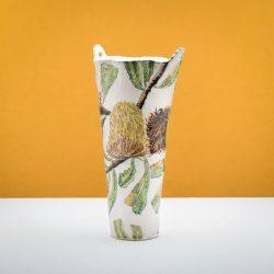Fiona Hiscock, Banskia Serrata Vase With Moth, 2015, 42x24x20cm