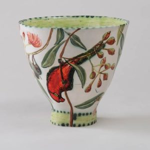 Fiona Hiscock, Flowering Gum Bowl With Two Birds, 2017, Stoneware, 23cm High, View 2