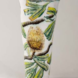 Fiona Hiscock, Banksia Vase With Honeyeater, 2017, Stoneware, 41cm High, View 2