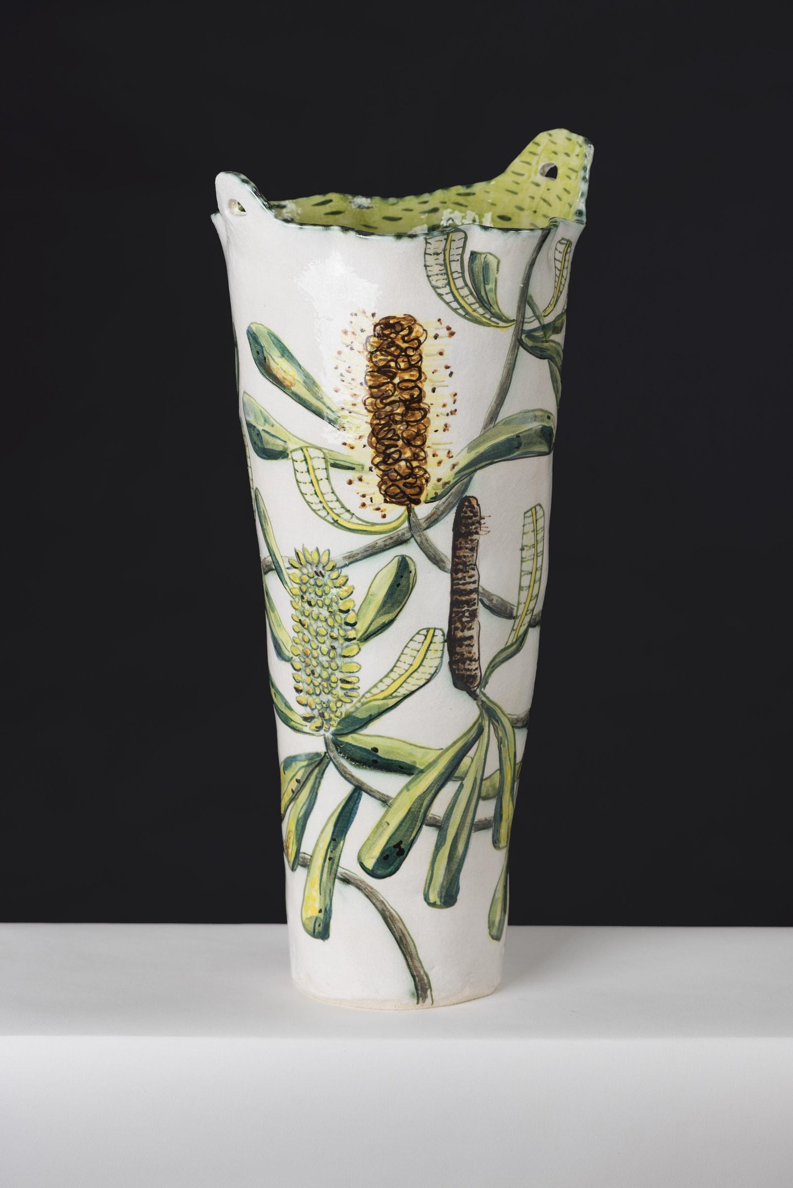 Fiona Hiscock, Banksia Vase, 2017, Stoneware, 41cm High, View 2