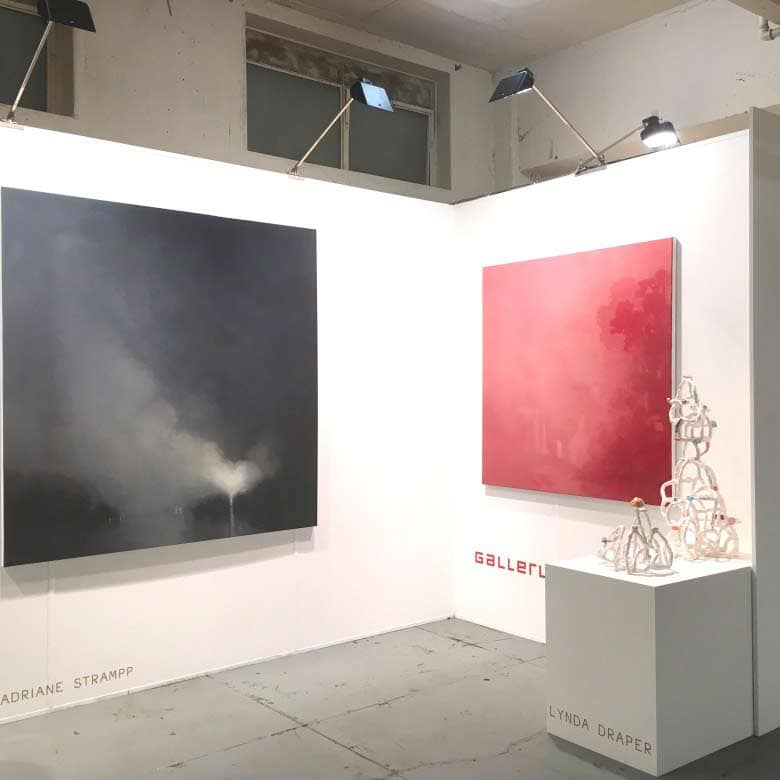 Gallerysmith at 602 artfair in Melbourne, 2016. Featuring work by Adriane Strampp and Lynda Draper.