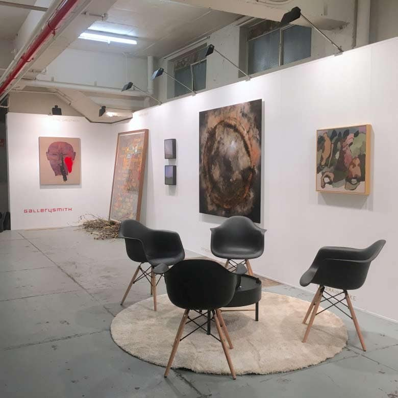 Gallerysmith at 602 art fair in Melbourne, 2016.