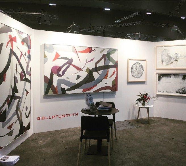 Gallerysmith at Denfair, 2016, featuring works by Ian Friend and Jennifer Goodman.