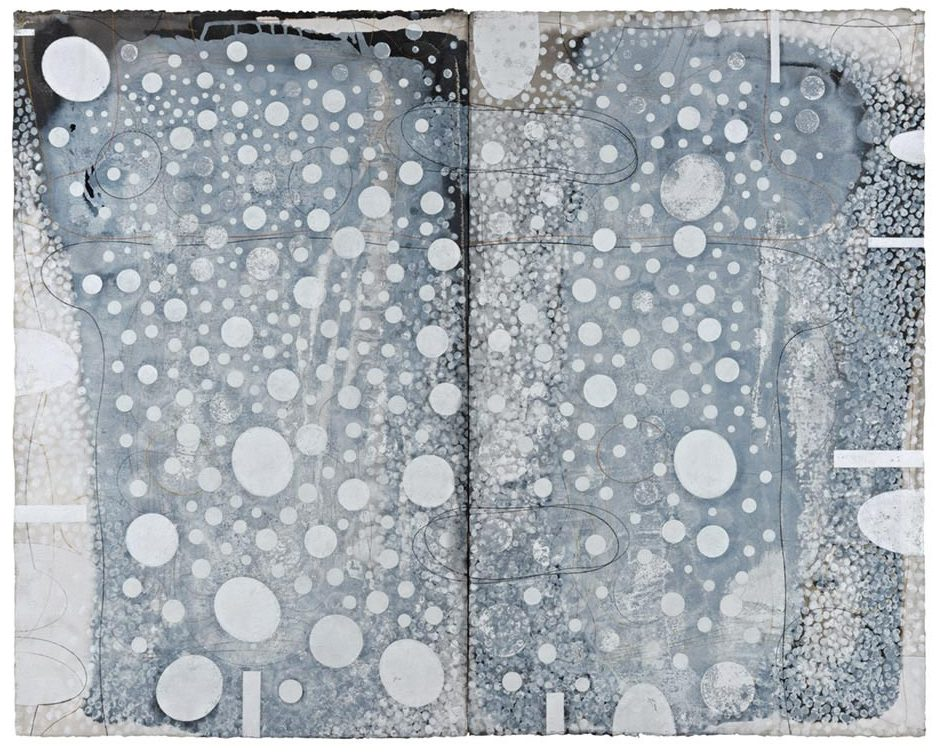 Ian Friend, Breath II (for Santiago Bose), Indian ink, gouache and crayon on paper, 2000-2014, 103×130