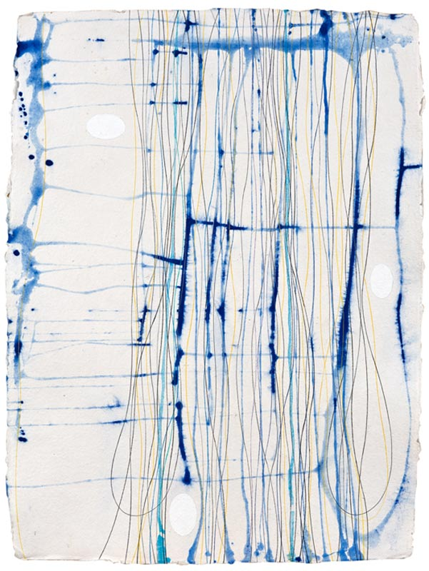 Ian Friend, Tracing the Paths of Memory – Biting the Air I, 2010, casein, pigment and crayon on Khadi paper, 76x56cm