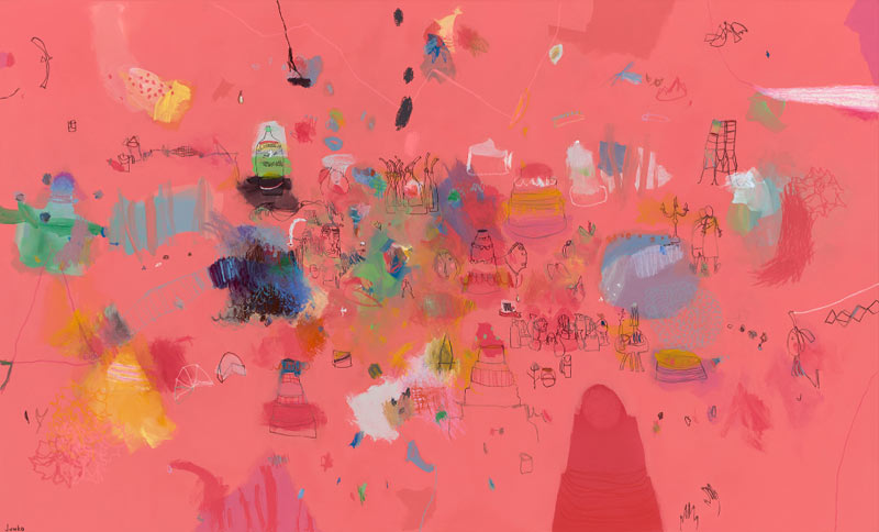 Junko Go, A tiny drop of vanilla essence can be so transformative…, 101x168cm