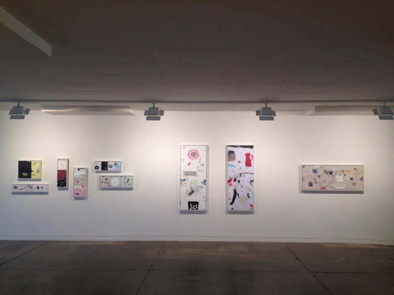 Junko Go, Un-Still Life exhibition, installed at Gallerysmith