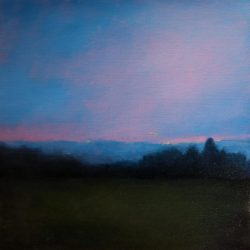 Kirrily Hammond, Belgium Twilight, 2016, Oil On Linen, 30x30cm