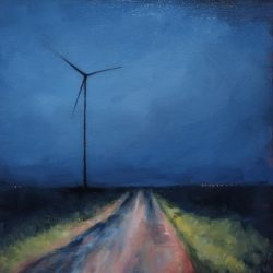 Kirrily Hammond, Farm Road, Namur Province, Belgium, 2015, Oil On Linen, 30x30cm