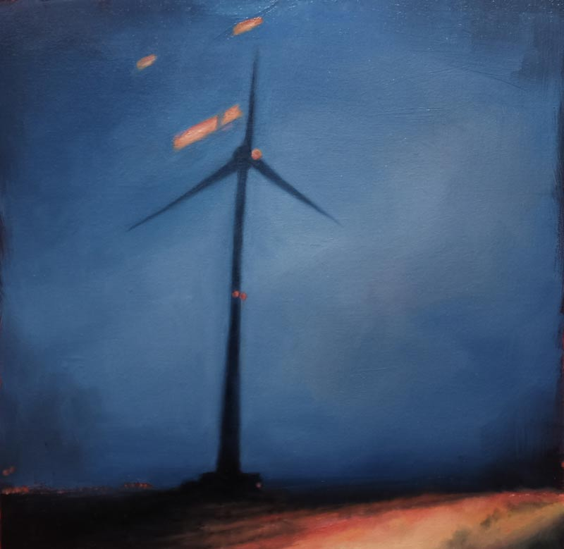 Kirrily Hammond, Namur province, Belgium 2015, oil on linen, 30x30cm